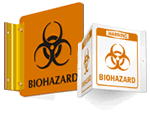 Projecting Biohazard Signs