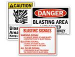 Blasting Area Signs