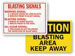 Blasting Signs
