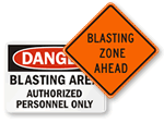 Blasting Warning Signs