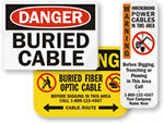 Buried Cable Warning Signs