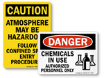 All Chemical Safety Signs