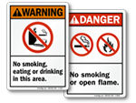 All No Smoking Safety Signs