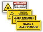 Class 1-4 Laser Labels