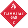 Class 2 Flammable Gas Placards