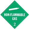 Class 2 Non-Flammable Gas Placards