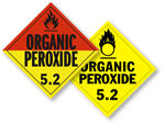 Class 5 Organic Peroxide Placards