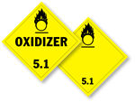 Class 5 Oxidizer Placards