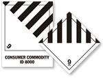 Class 9  Misc. Dangerous Goods Hazmat Labels