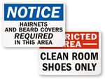 Cleanroom Signs