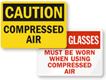 Compressed Air Warning Signs