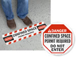Confined Space Floor Signs