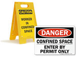 Confined Space Safety Signs