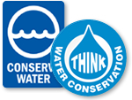 Conserve Water Signs