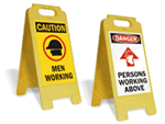 Construction Area Stand-Up Floor Signs