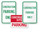 Construction Parking Signs