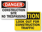 OSHA Construction Signs