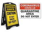Coronavirus Quarantine Signs