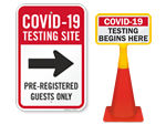 COVID-19 Testing Center Signs