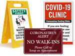 COVID-19 Signs for Hospitals
