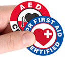 CPR Certified Stickers