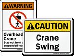 ANSI Crane Signs