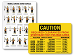 Crane Warning Labels