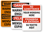 Custom Bilingual Sign