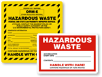 Custom Hazardous Waste Labels