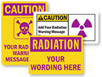 Custom Radiation Signs