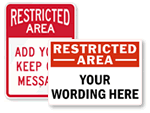 Custom Restricted Area