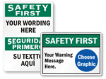 Custom Safety Slogan Signs