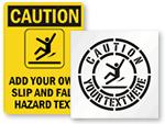Custom Wet Floor Signs & Stencils