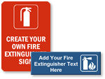 Custom Fire Extinguisher Signs