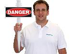 EasyStake Danger Sign