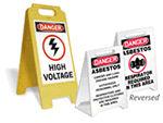Danger Stand-Up Floor Signs