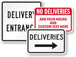 Delivery Entrance Signs