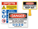 Demolition Signs