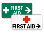 Arrow First Aid Signs