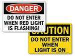 Do Not Enter - Flashing Light