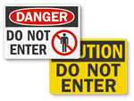 OSHA Do Not Enter Signs