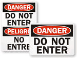 ANSI Do Not Enter Signs