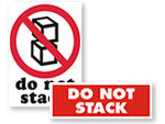 Do Not Stack Labels & Stencils