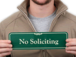 No Soliciting Door Sign