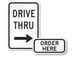 Drive Thru Signs