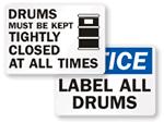 Drum Storage Signs
