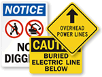 Buried Electrical Cable Signs