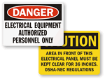 Electrical Equipment Warnings