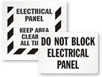 Electrical Panel Keep Clear Signs