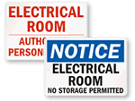 Electrical Room Safety Signs